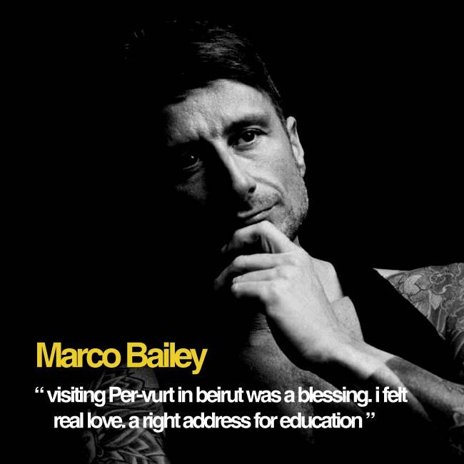 Marco Bailey Supports Per-vurt