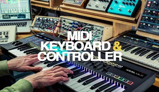 MIDI KEYBOARD AND CONTROLLER guide different types