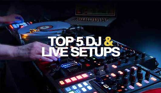 5 DIFFERENT DJ & PERFORMANCE SET-UPS setups